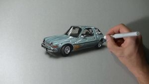 Mirth Mobile AMC Pacer DRAWING by marcellobarenghi