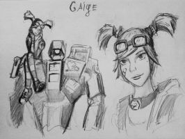 Sketches Gaige by spaceMAXmarine