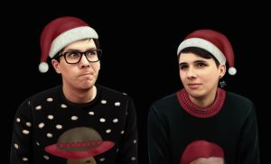 Dan and Phil 'Festive' by DraconaMalfoy