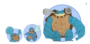 Squirtle line by HGHaet