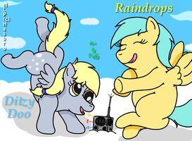 Ditzy Doo and Raindrops by PuffyDearlySmith