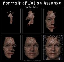 Making of - Julian Assange by BenHeine