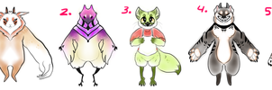 name your price adoptables by HauntedHomo