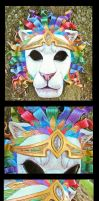 Lion of Judah Leather Mask by Draikairion