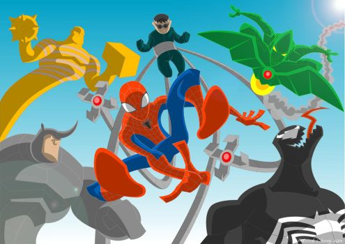 SPIDEY and Foes Color by Apollorising