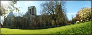 York Minster - Dean's Park by WormWoodTheStar