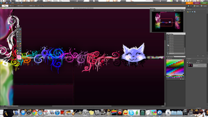 designing a youtube background by SuperRibbonGirl