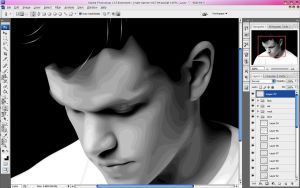 WIP matt damon by ash-becca