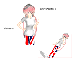 MMD- Creepy Haku Summer- DOWNOALD MODEL by HakuYowane343