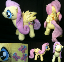 Fluttershy Plush More Views by Cryptic-Enigma