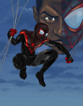 ultimate spider-man test illustration by midknight01