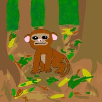 Monkey on Mound by xxinfinitedreamsxx