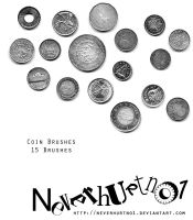 Coins Brushes by neverhurtno1