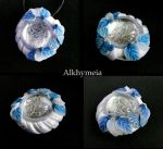 Dew Drop in Blue and White M4 by Alkhymeia