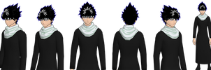 hiei model remade cel wip by GAME-ART-EDITED-ART