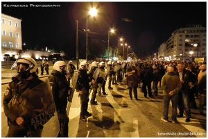 Athens Protest by Kevrekidis