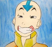 Aang. Deliciously Evil. by prussia-the-awehsome