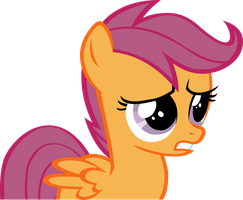 Worried Scootaloo by RainbowCrab