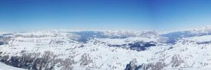 View from the Marmolada by lailalta