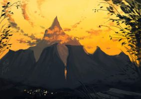 The Great Mountin - speedpainting by pin100