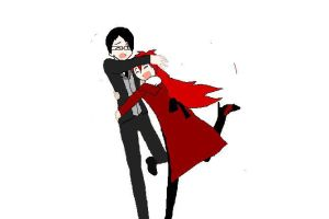 Grell x Will - Surprise Hug by xTheRedReaperx