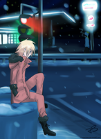 Kenny McCormick at night by Timeless-Knight
