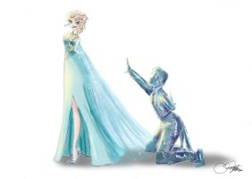 Elsa and Hans by SilverCatseyes