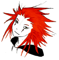 Axel's Freakishly Red Hair by Lowland-Swagger