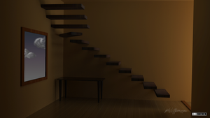 Stairs on wall by phmongeau