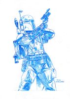 Boba Fett pencils by JoshTempleton