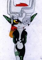 Cute Midna X3 - coloured by Luifex