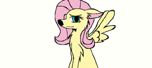 Flutter Shy wolf by AirenNova