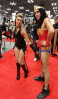 NYCC2013 Catwoman and Wonder Woman by zer0guard