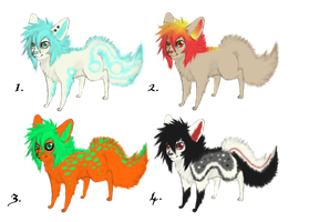 Chibi dog adoptables by MoustacheRevolution