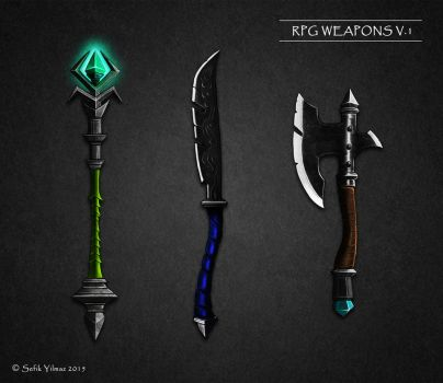 Fantastic RPG weapons by sefikyilmaz