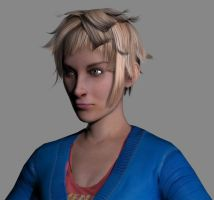 3d wip girl by Athey