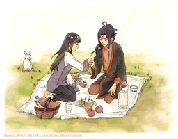 Commission - Haku n Hinata by redsama