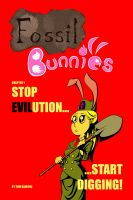 Fossil Bunnies #1 Cover by bitterlilraccoon