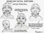 Face Sketches - Aang by AmiraElizabeth