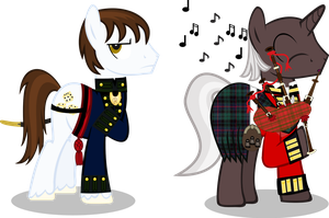 Major Munroe and Captain Lord Spears by Vector-Brony