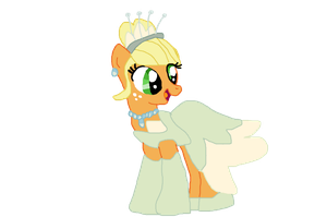 Applejack as Tiana by Dulcechica19