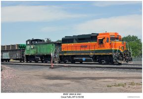 BNSF 2804 and 3461 by hunter1828