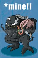 Venom and his brain food by happymonkeyshoes