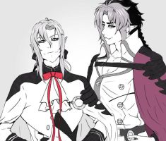 Ferid and Crowley by R-E-M-S