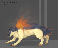 Typhlosion by PippinPeanut