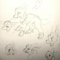 Nephthys doodles by WENDlGO