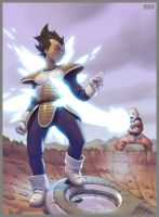 DBZ Vegeta Krilin (2009) by GrayShuko