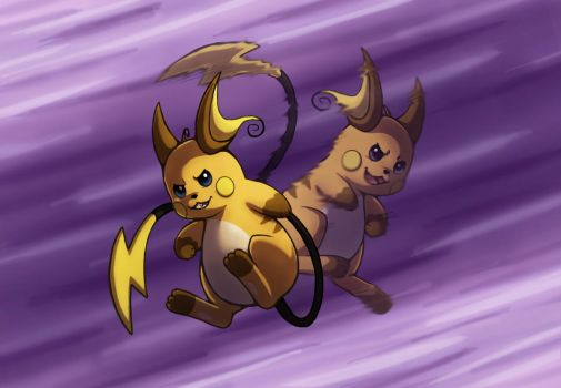 Raichu Used Double Team by PokeGirl5