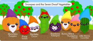Snow Pea and the Seven Dwarf Vegetables by FruityCuties