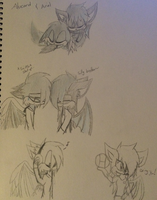 ~Alucard and Ariel Sketches~ by ChibiChibiWoofWoof